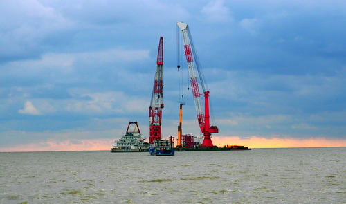 龙源如东海上试验风电场24.2mw 扩建项目工程进展报道